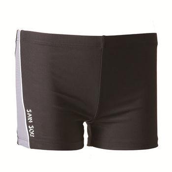 【SAIN SOU】大男彈性三分泳褲 (附泳帽) 加贈短襪x1雙 A52205