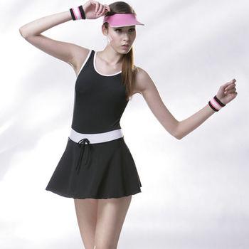【SAIN SOU】大女連身裙泳裝 (附泳帽) 加贈短襪x1雙 A98230
