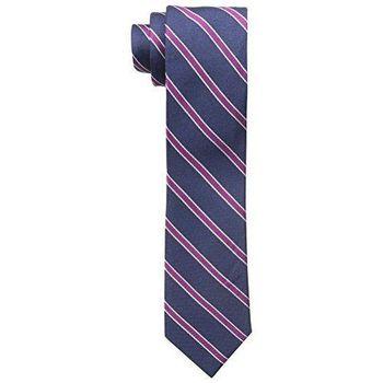 【Tommy Hilfiger】2015男時尚寶藍粉紫色斜條紋領帶【預購】