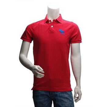 Abercrombie  Fitch 藍麋鹿POLO衫(男-紅-M)