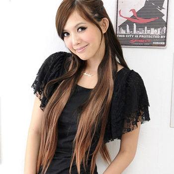 太妃糖 超自然五扣式直髮接髮假髮片(2色)