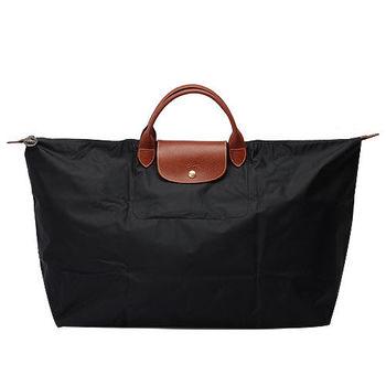 LONGCHAMP 摺疊超大型水餃旅行袋(黑)