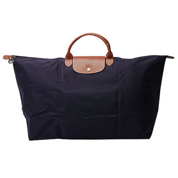 LONGCHAMP 摺疊超大型旅行包/購物袋(深紫)