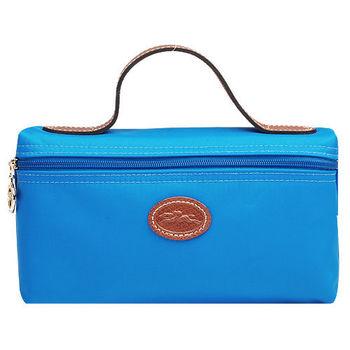 LONGCHAMP 中型提袋化妝收納包(海藍色)