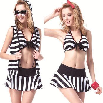 【SAIN SOU】大女比基尼四件式泳裝附泳帽加贈可諾帕短襪x1雙A94306