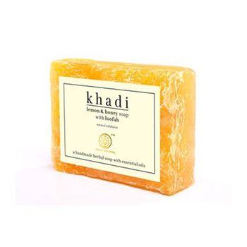 【印度Khadi】檸檬蜂蜜手工精油絲瓜皂去角質6入特惠組