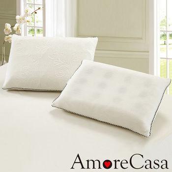 AmoreCasa 台灣製造 平面科技乳膠獨立筒枕1入
