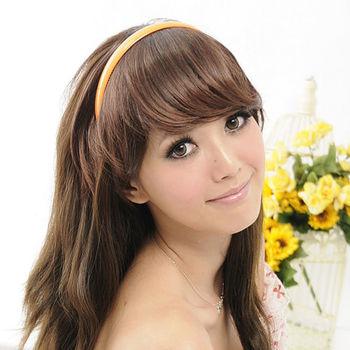 太妃糖 活力女孩自然系斜瀏海假髮髮片(2色)