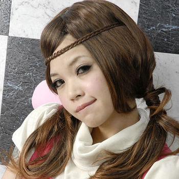 太妃糖 青春活力辮子造型假髮髮帶(3色)