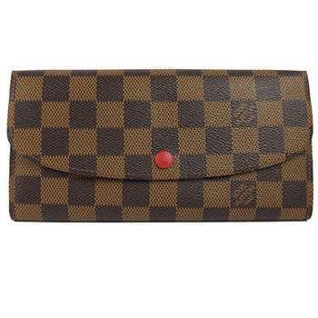 【LV】N63544 EMILIE 棋盤格紋扣式拉鍊零錢長夾(預購)