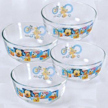 Disney經典米奇卡通圖案點心碗11.5cm-四入組