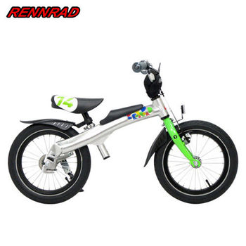 RENNRAD 鋁合金變形滑步車/腳踏車兩用童車14吋_綠