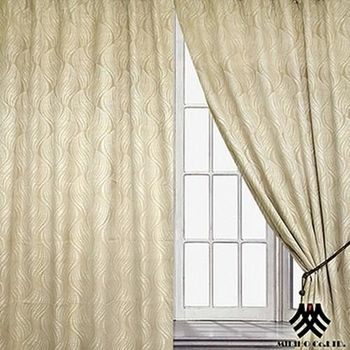 【M.B.H】金燦巴黎半腰遮光穿掛窗簾(270*165cm)