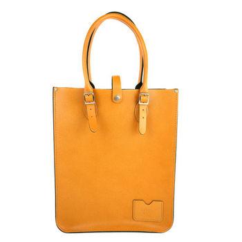 【The Leather Satchel Co.】英國原裝手工牛皮托特包 手提包 肩背包 (駝黃)