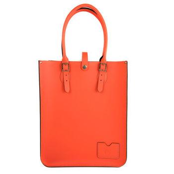 【The Leather Satchel Co.】英國原裝手工牛皮托特包 手提包 肩背包 (珊瑚紅)