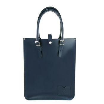 【The Leather Satchel Co.】英國原裝手工牛皮托特包 手提包 肩背包 (湖泊藍)