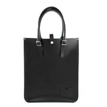 【The Leather Satchel Co.】英國原裝手工牛皮托特包 手提包 肩背包 (火炭黑)