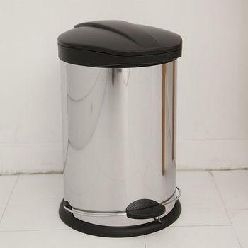 IKLOO宜酷屋_不鏽鋼腳踏垃圾桶-12L(台灣製造)