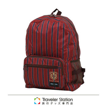 《Traveler Station》HAPI+TAS摺疊後背包(舊款)-132皇家酒紅