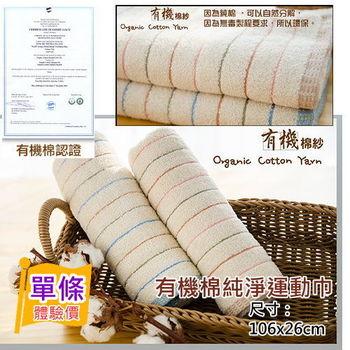 台灣興隆毛巾製*有機棉純淨運動巾(單條)