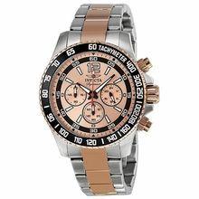 瑞士INVICTA經典三眼計時腕錶