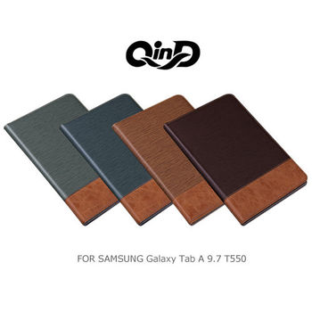 QIND 勤大 Samsung Galaxy Tab A 9.7 T550 格調可立/插卡皮套