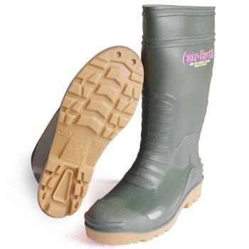一體成型時尚中筒雨靴/雨鞋(墨綠)
