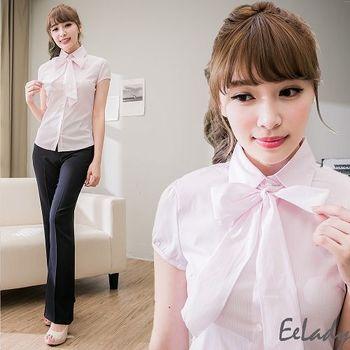 【EE-LADY】氣質小包袖襯衫贈領巾(34-42)-粉色