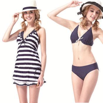 【SARBIS】MIT大女比基尼四件式泳裝  (附泳帽) 加贈短襪x1雙 B94305