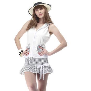 【SARBIS】MIT大女比基尼四件式泳裝 (附泳帽) 加贈短襪x1雙 B94203