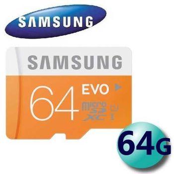Samsung 三星 64GB 48MB/s EVO microSDXC TF UHS-I U1 C10 記憶卡