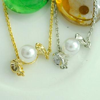 太妃糖 韓國貝殼珍珠糖果小項鍊(2色)