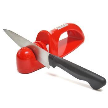 日本製造Shimomura三用陶瓷磨刀器(紅色)