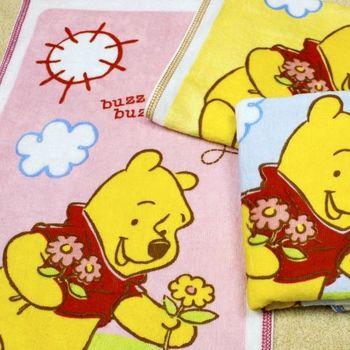【法式寢飾花季】優雅生活-Disney純棉舒柔海灘巾(採花維尼)