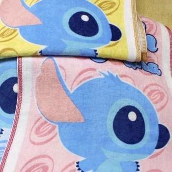 【法式寢飾花季】優雅生活-Disney純棉舒柔海灘巾2件組(俏皮圖騰史迪奇)