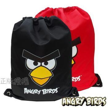 Angry Birds憤怒鳥 俏麗束口後背袋(二色)
