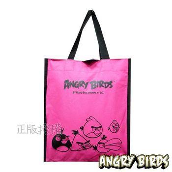 Angry Birds憤怒鳥 經典補習收納袋(桃紅色)