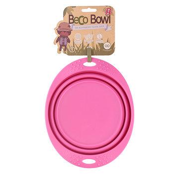 Beco Pet 馬卡龍環保竹酯旅行餐碗(L)-粉紅
