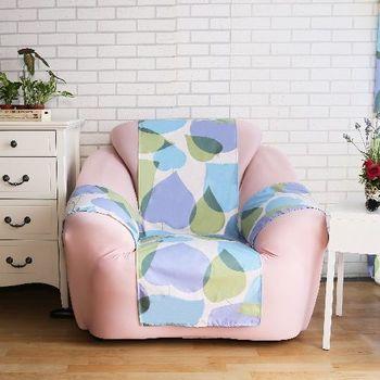 【HomeBeayty】舒柔涼感輕便沙發保潔墊-1人座(桃心葉)
