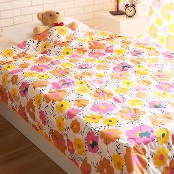 【HomeBeauty】舒眠涼感精梳棉涼被(太陽花)