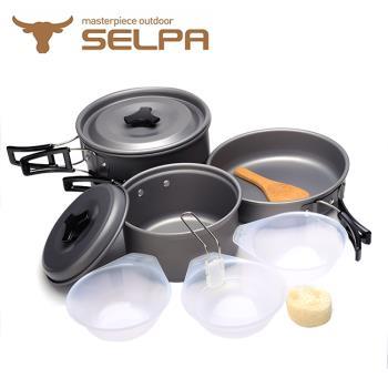 【韓國SELPA】戶外不沾鍋設計鋁合金鍋具七件組