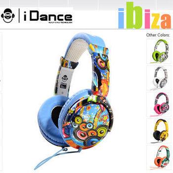 iDANCE IBIZA電音系列 內嵌麥克風 加厚減壓耳墊 耳罩式/頭戴式耳機 相容iPHONE