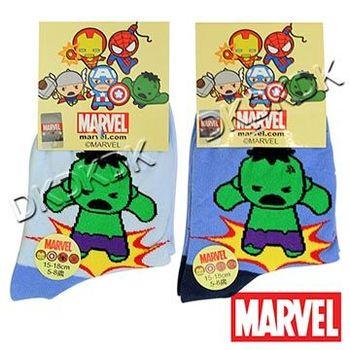 卡通正版授權 復仇者聯盟 綠巨人浩克 精梳棉童襪 15-21cm  (3入)