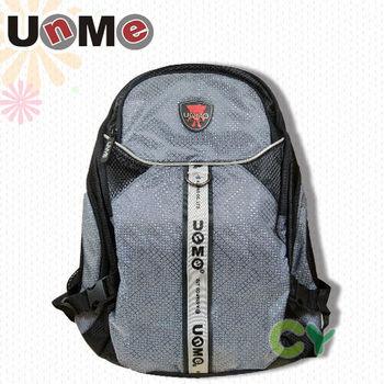 【UnMe】簡約菱式後背包/黑色