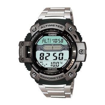 CASIO 巔峰戰士雙感測量運動錶(鋼帶款)SGW-300HD-1A