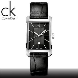 【瑞士 CK手錶 Calvin Klein】極簡大錶徑層次高質感女錶-黑(K2M23107)