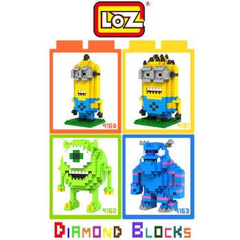 LOZ 鑽石積木-9162【動畫系列】-大眼仔