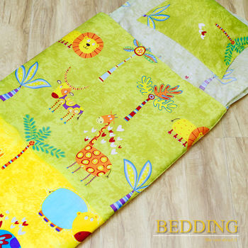 BEDDING 馬戲團 100%棉 多功能冬夏兩用鋪棉兒童睡袋