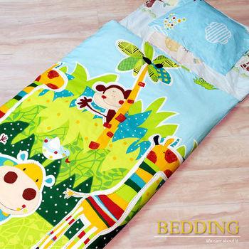 BEDDING 快樂派對 100%棉 多功能冬夏兩用鋪棉兒童睡袋