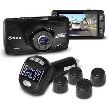 DOD IS200W FULL HD行車紀錄器 +維迪歐 SPY-506 胎壓偵測器 (送32G Class10記憶卡)